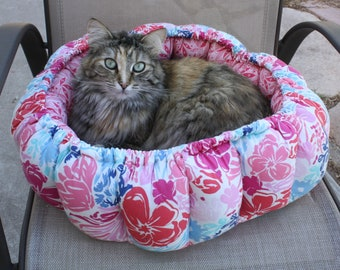 Cat Bed, Round Pet Bed, Indoor Cat Bed, Pet Supplies, Pet Bedding, Handmade Pet Bed, Birthing Pet Bed, Small Dog Bed, Beds For Cats Pet Bed
