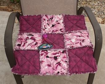 Cat Bed, Kitten Quilt, Small Dog Blanket, Pink Throw, Fabric Pet Blanket, Handmade Pet Bed, Crate Mat, Stroller Mat Travel Pet Bed