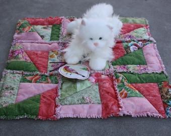 Cat Blanket, Dog Quilt, Patchwork Pet Mat, Washable Cat Bedding, Handmade Pet Quilt, Travel Pet Mat, Stroller Pet Pad, Catnip Toys, Cat Nip