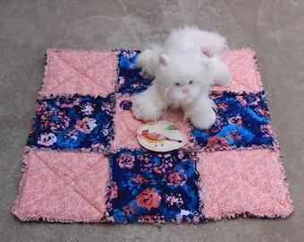 Pet Blanket, Cat Bed, Travel Pet Bedding, Blue Pet Throw, Handmade Pet Quilt, Pet Crate Liner, Cat Mat With Catnip Toy, Colorado Catnip Toys