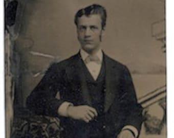 Dapper tinted tintype dandy civil war era gentleman