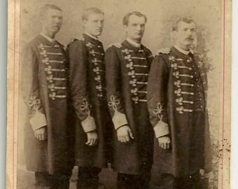 Circus sideshow freak giant Shields brothers Eisenmann NY bowery cabinet card Texas uniform