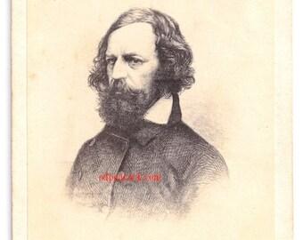 Tennyson cdv album filler author poet Victorian pre-raphealite