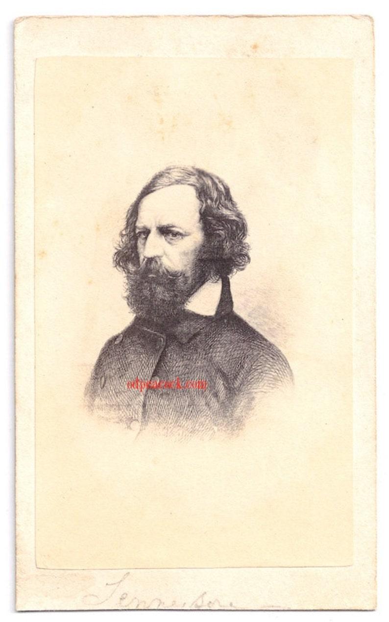 Tennyson cdv album filler author poet Victorian pre-raphealite image 0
