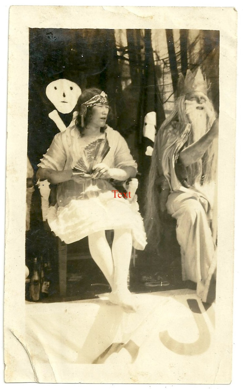 Neptune party oddity skull antique photo mermaid beach king image 0