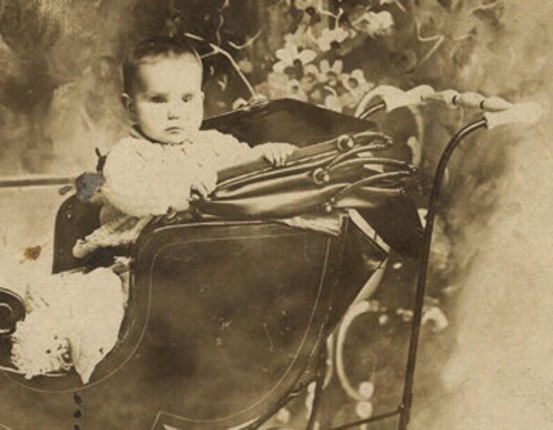 Three eyed baby buggy oddity Victorian child antique image image 0