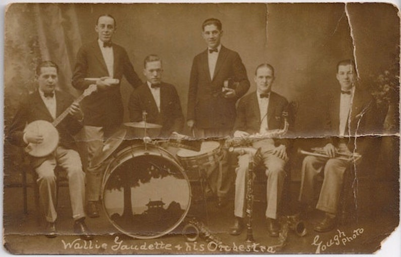 Wallie Gaudette and his orchestra banjo band sax trumpet image 0