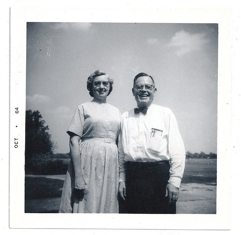 Geek Love 60s couple marriage happy couple nerd photo pocket image 0
