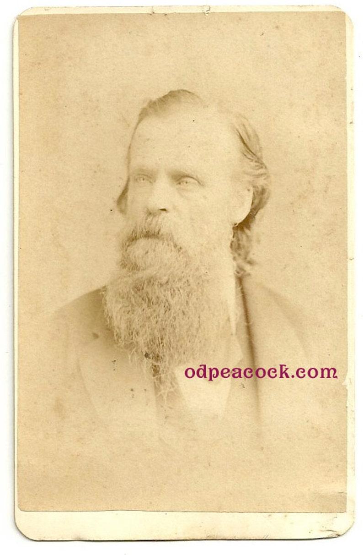 Spooky beard man Gutekunst cdv Philadelphia PA antique photo image 0