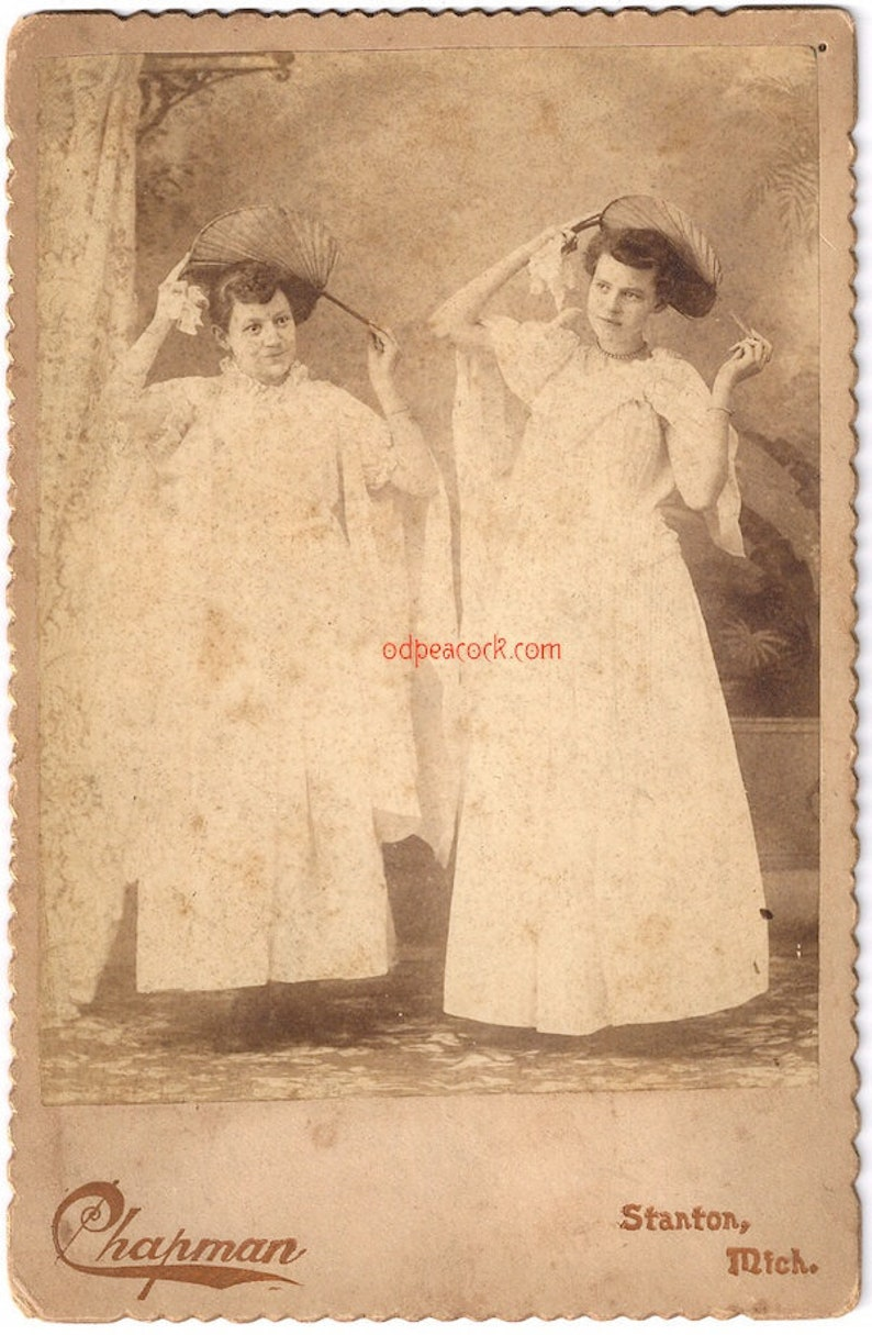 Masquerade fans girls Victorian photo theater dance cabinet image 0