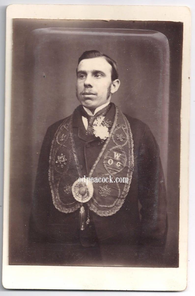 Fraternal organization Masonic Secret Society photo antique image 0