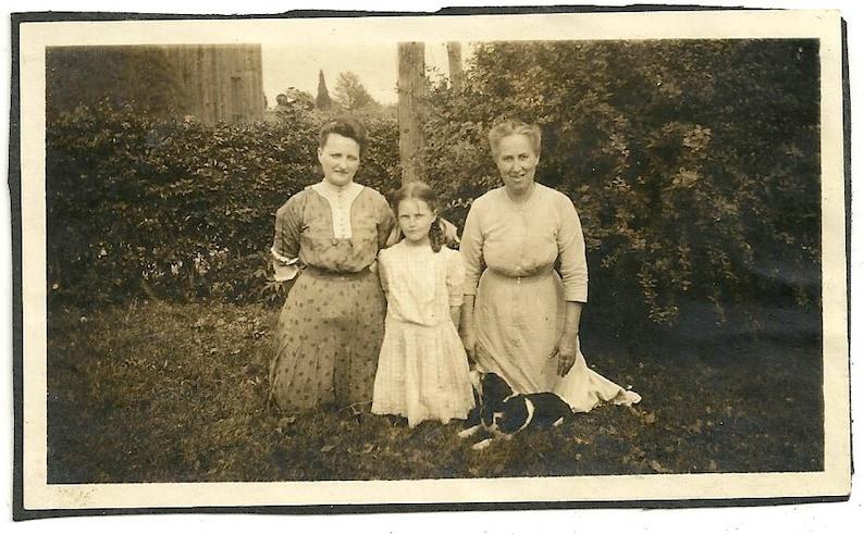 Vintage women with beagle photo antique dog image image 0