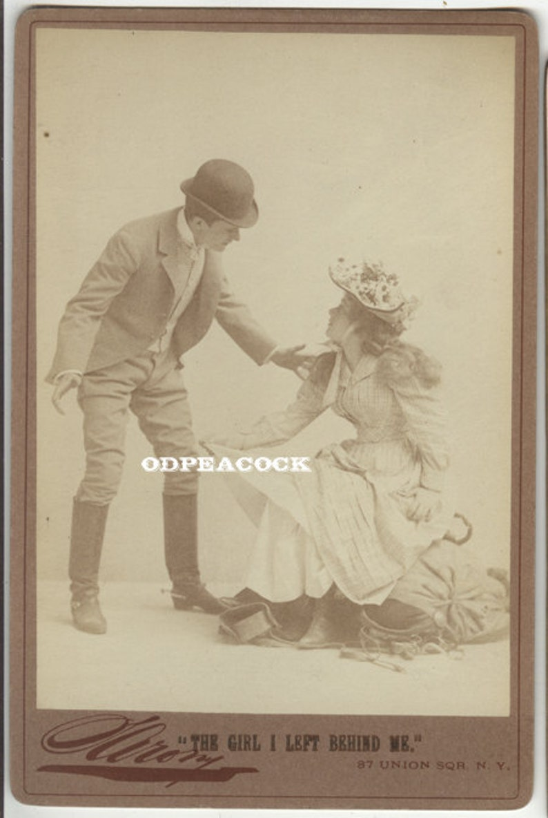 Sarony theater cabinet card girl i left behind me actress image 0