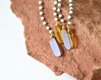 Purple Passion and Amber Dangle Statement Earrings