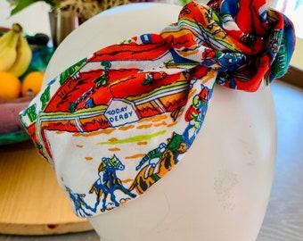 The Derby Turbie / headband / Knotti / turband