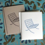 Barcelona Lounge Chair Illustration Note Card