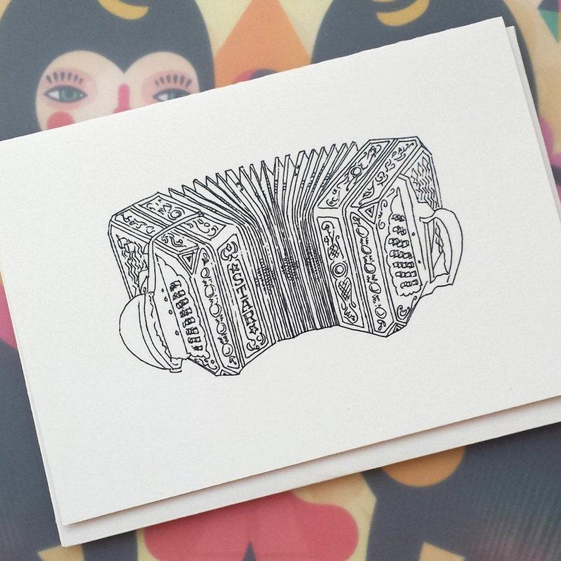 Concertina Illustration Note Card image 0