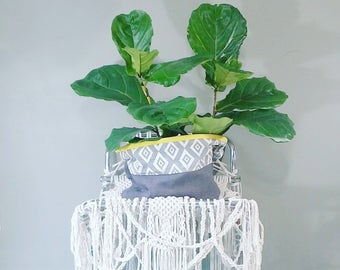 End Table~ Foldable Plant Stand~ Coffee Table~ Side Table~ Book Stand~ Shabby Chic Decor~ Bohemian Furniture~ Hello Unicorn~ Modern Macrame