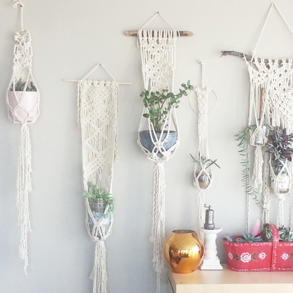 Shabby Chic Wall Decor: Shabby Chic Hanging Planter Wall Accent Bohemian Decor