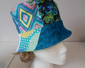 168f958e All Cotton Random Patchwork Bucket Floppy Hat hippie hat, festival clothes,  patchwork hat, Sun Hat Summer Hat Lightweight hat