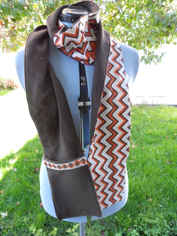 f31b4ce43c1 Reversible Pocket Scarf zipper Scarf pocket and slot