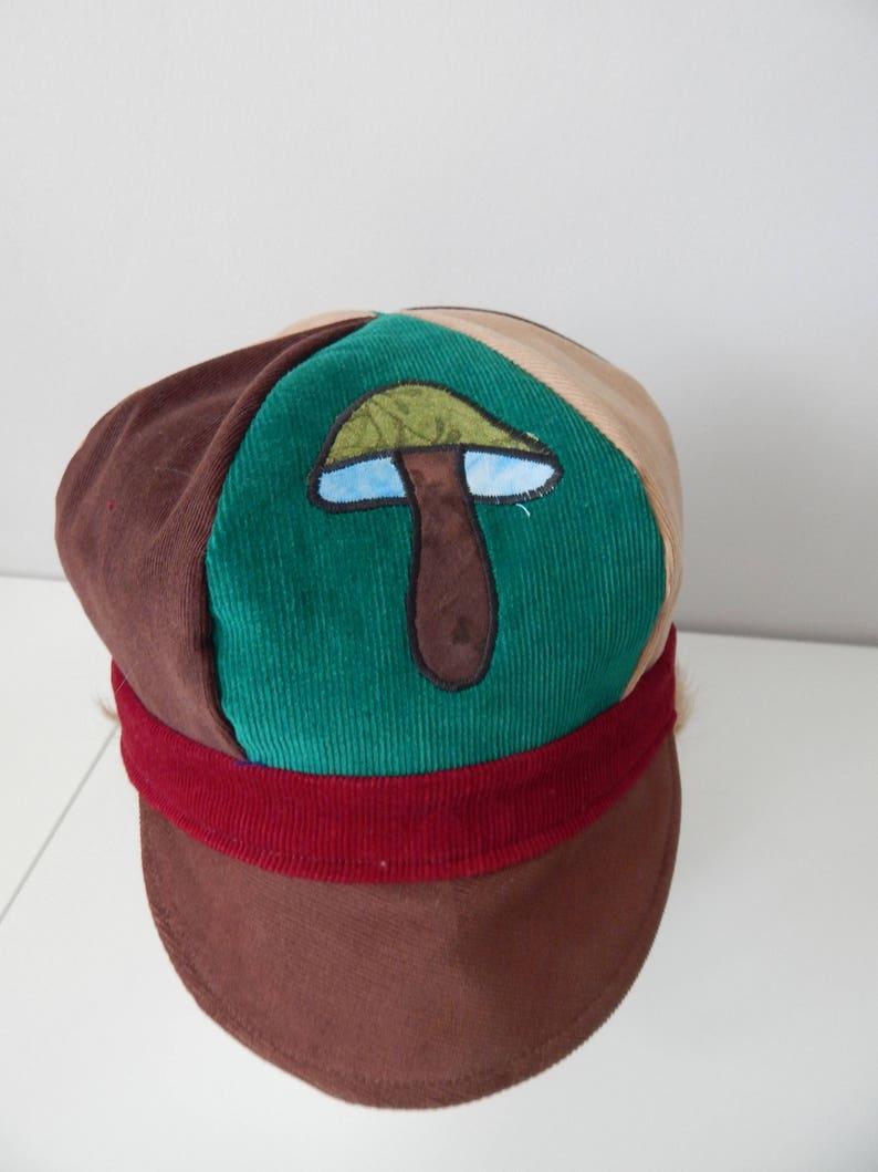 65fa7537b93 Mushroom NewsBoy Hat News Boy Cap All Patchwork corduroy