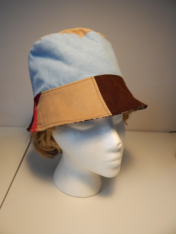 3b7137f6dfb All Corduroy OOAK Patchwork Bucket Floppy Hat hippie hat