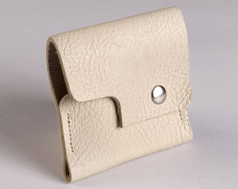 Butte snap wallet - Cream bull hide leather