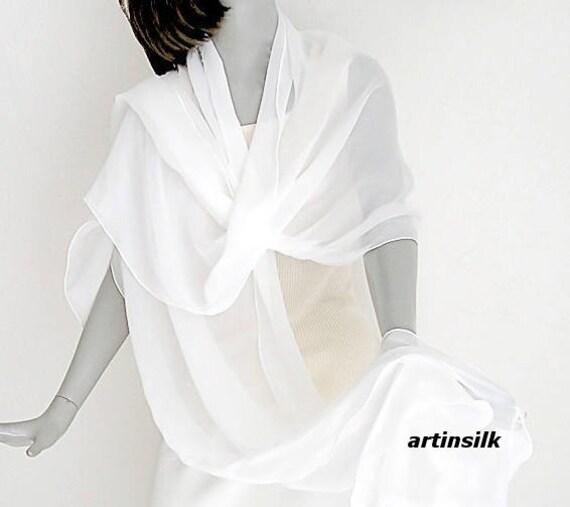 4d743d1ca5d White Shawl Long Wide Wedding Wrap 22 x 96