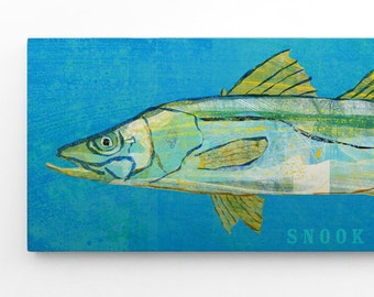 Fathers Day Fishing Gift for Men, Fish Gifts for Men, Snook Art Block Sign, Beach Theme Bedroom, Fish Gifts for Young Men, Gift Ideas