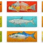 Saltwater Fish Art Block, Fishing Gifts for Men, Pick the Fish Wall Decor