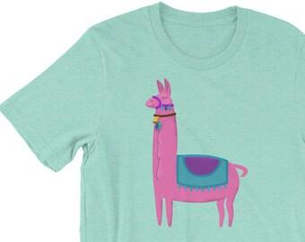 Cute Llama T-Shirt, Womens Llama Shirt, Llama Gift, Llama Clothing, Llama Tee, Llama Tshirt, Gift for Llama Lover Shirt, Llama T Shirt