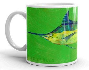 Fishing Gifts for Men, Mug for Him, Husband Gift, Fish Mug, Blue Marlin Mug, Fishing Gift, for Fisherman Gift, Fish Gift for Him
