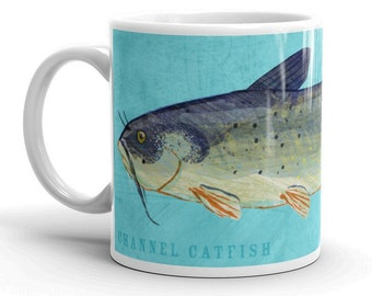 Gifts for Dad, Husband Gift, Fish Mug, Channel Catfish Mug, Fishing Gift, for Fisherman Gift, Fish Gift for Him
