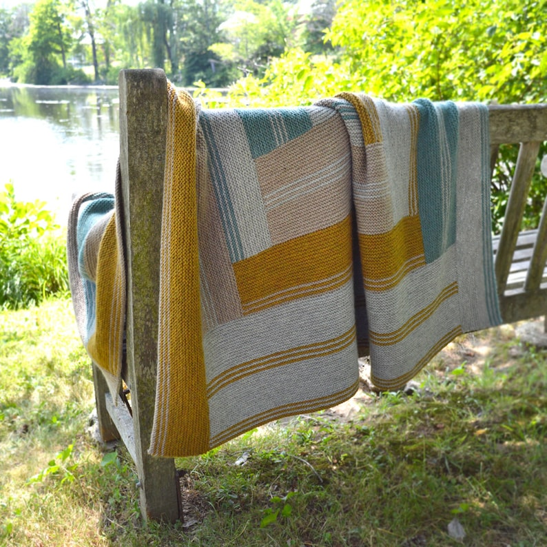 Next in Line Afghan Knitting Pattern PDF image 0