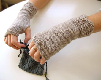Shallows Fingerless Mitts Knitting Pattern