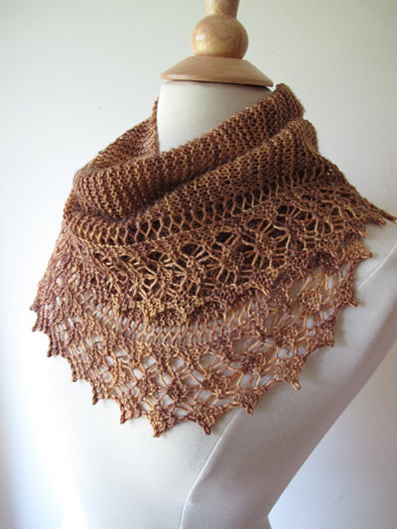 Streusel Lace Scarf Knitting Pattern Etsy