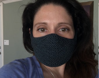 Pattern for fashionable face cover - knitting
