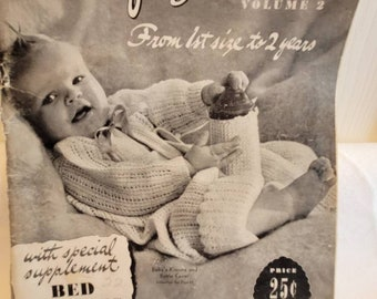 Beehive for Bairns book, vintage knitting book, vintage pattern book, baby pattern book, vintage book, vintage crochet book, baby patterns