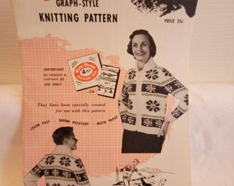 Mary Maxim patterns, knitting patterns, siwash pattern, knitted siwash pattern, knitted sweater pattern, sweater pattern, graph knitting