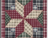 Free US Shipping 6018B Miniature Star Plaid Dollhouse Quilt or Rug 7.5 quot Square Great for OOAK Sculpt Doll
