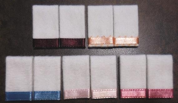 Miniature Dollhouse 6 Pc Bath Towel Set //Country Blue /& White trim 1:12