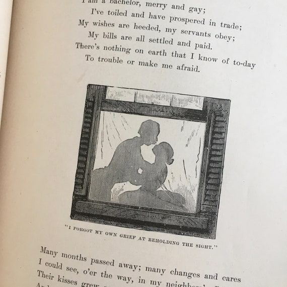 Antique Poetry Is Book Perfect For Paper Art Projects Collage Clipart Scrapbooking Etc 1882 Lyrics Of Home Land By Eugene J Hall