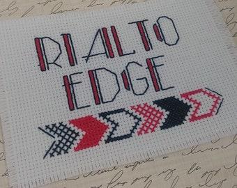 Rialto Edge Alphabet Font Cross Stitch Letters Pattern PDF Instant Download Art Deco Text Retro Geometric Funky Monogram Hipster