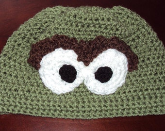 7c59ff2c551 Boutique Crochet Grouch Style Hat 6-12m