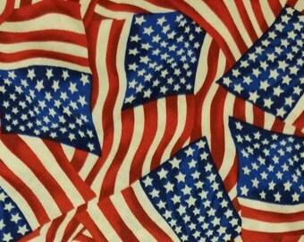 American Flag Patriotic Slid On Collar Dog Bandana