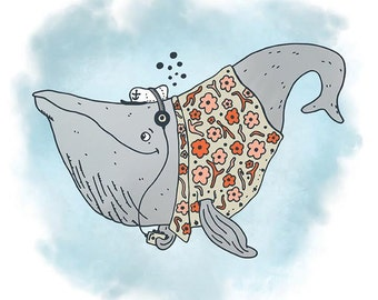 Whale Jams print