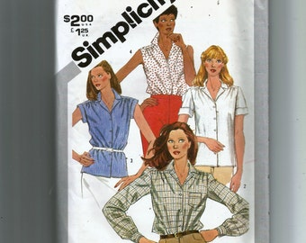 babed87c13 Simplicity Misses' Shirts In Half-Sizes Pattern 5182