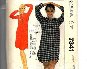 McCall s Misses  Nightshirt Pattern 7341 9e26ca8a8