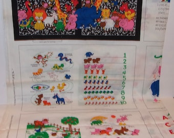Teacher/'s Pet ABCNumbersShapes Cotton Fabric  Book Panel